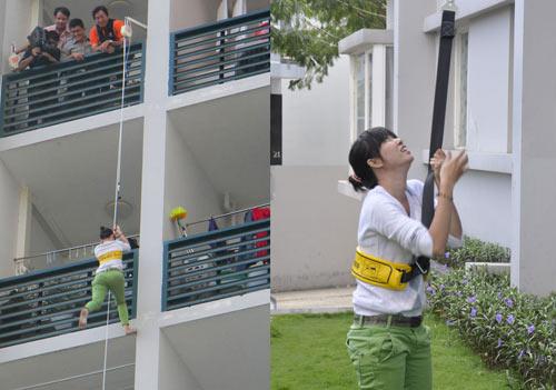 Bộ dây thoát hiểm giúp bạn tuột khỏi nhà cao tầng một cách an toàn.