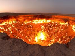 Hố lửa khổng lồ tại Turkmenistan