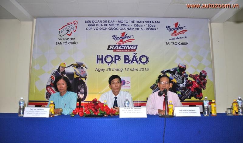 Buổi họp báo ra mắt giải đua xe Mô tô 125cc – 135cc – 150cc tranh Cúp vô địch Quốc gia năm 2016