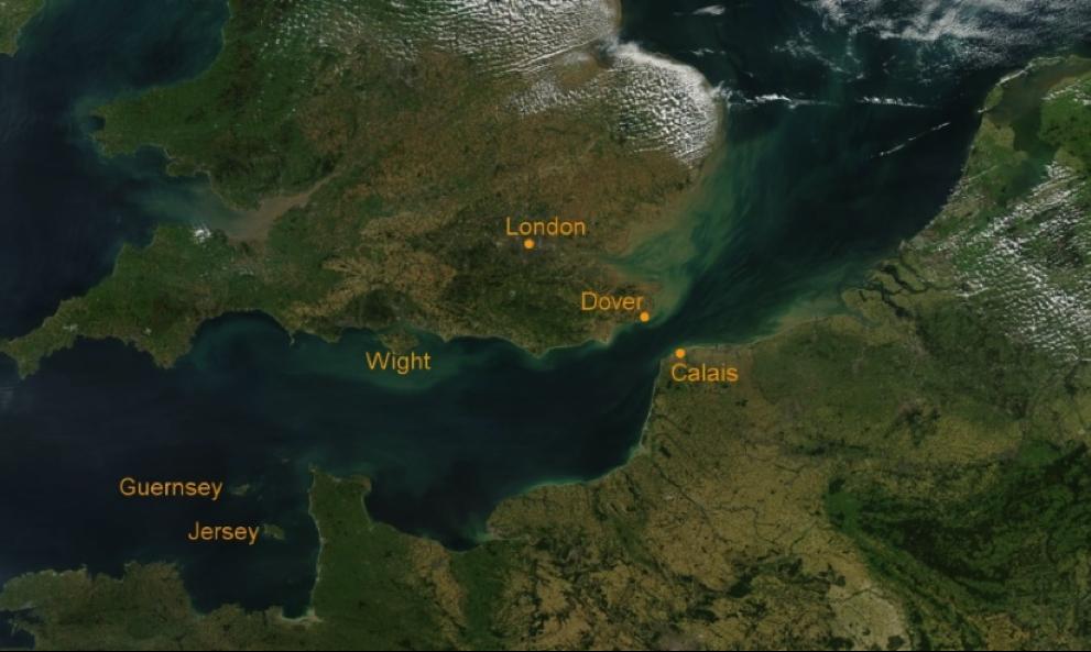 Eo biển Manche chụp từ vệ tinh
