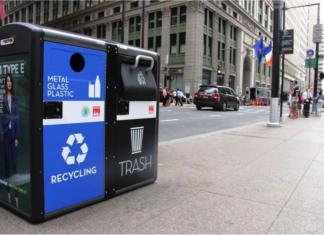 Mô hình thùng rác kiểu mới phát wifi