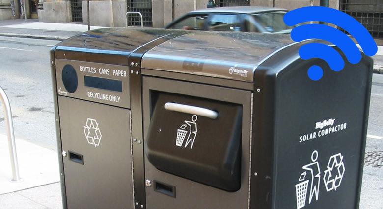 Những thùng rác này hoạt động bằng năng lượng mặt trời