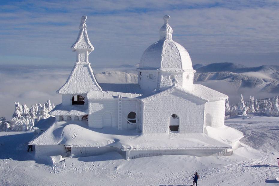 Mùa đông biến nơi đây trở thành một vương quốc của băng tuyết