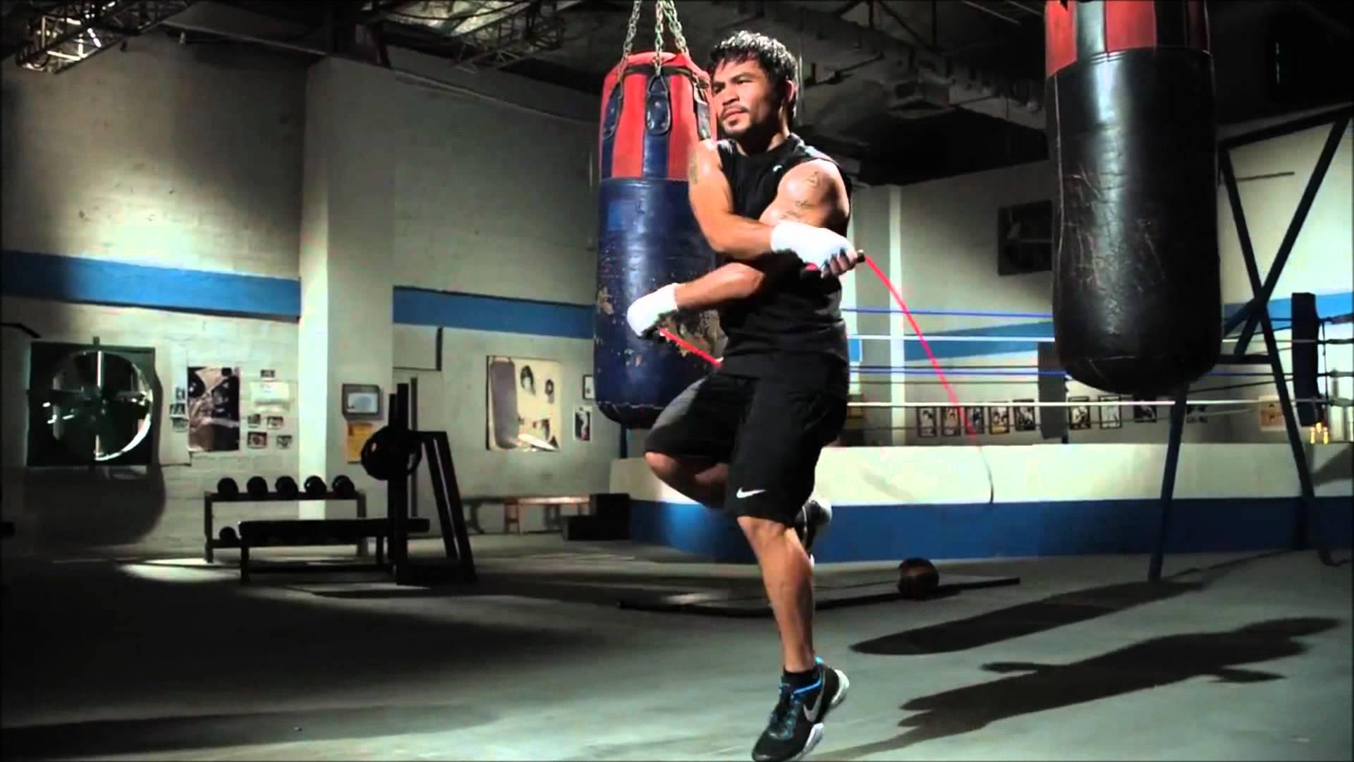 Nhảy dây bài luyện tập quen thuộc cho vận động viên võ thuật