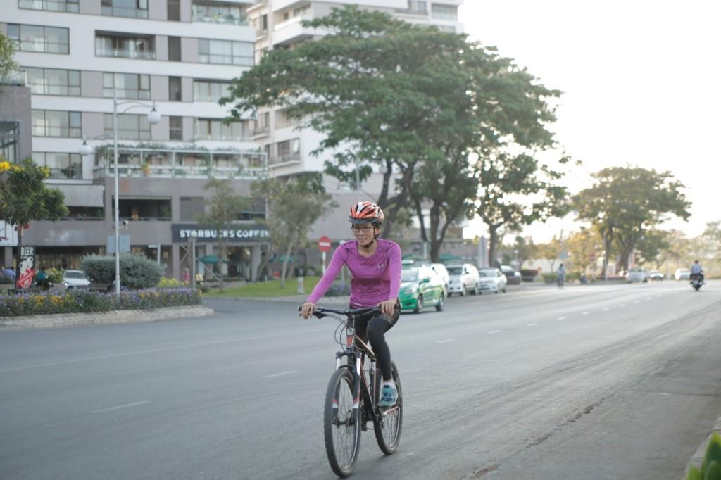 Đạp xe giúp chị có sức khỏe và tinh thần tốt nhất để cân bằng cuộc sống và công việc