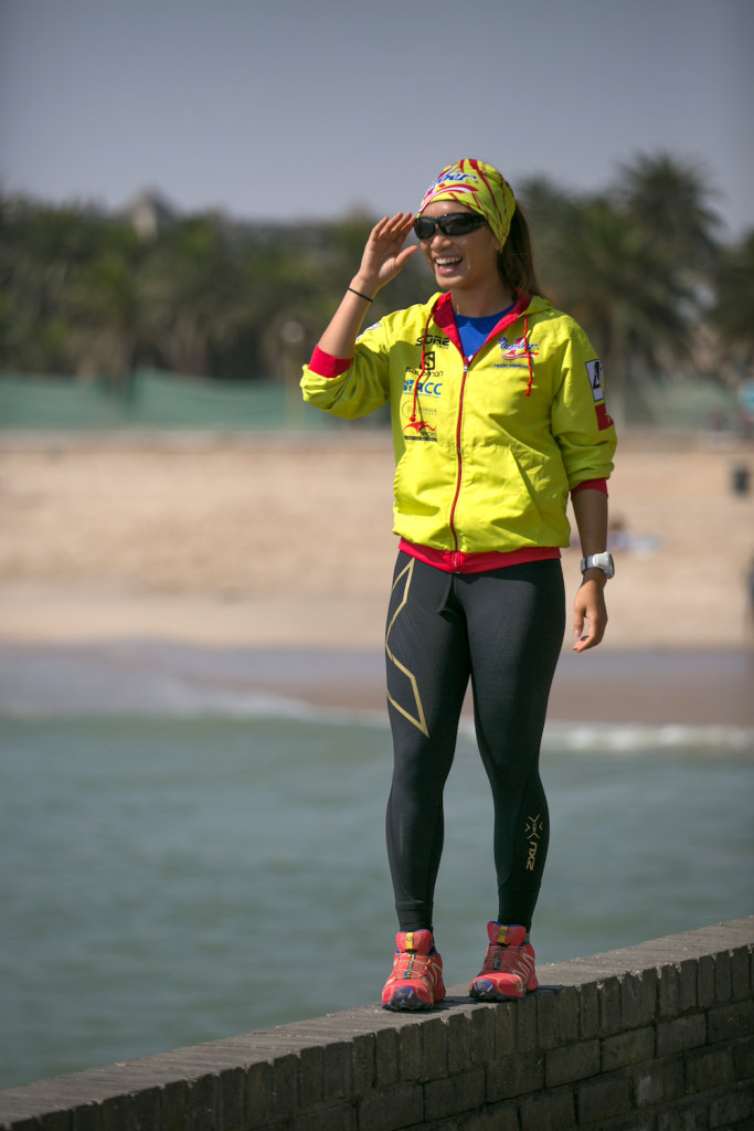 Cô gái Vũ Phương Thanh – đại diện duy nhất đến từ Đông Nam Á về đích thứ 3 trong nhóm U29 nữ tại chặng đua đầu tiên qua 250km tại sa mạc Atacama khô cằn với sự đồng hành của nhãn hàng nước tăng lực số 1 Việt Nam Number One – tập đoàn Tân Hiệp Phát