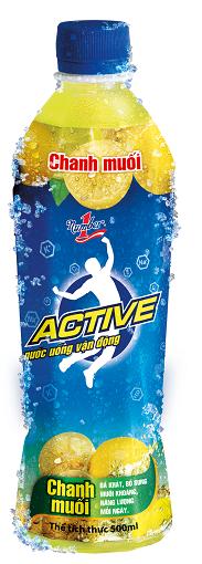 Number 1 Active Chanh Muối đóng chai - Nước uống thể thao vận động