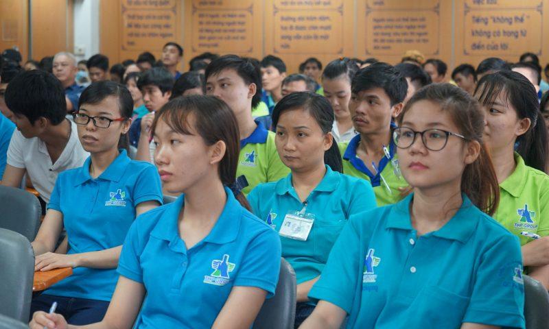 Nhân viên Tân Hiệp Phát hào hứng tham gia lớp An toàn lao động