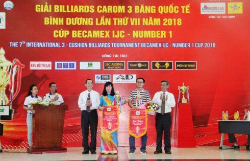 Khai mạc giải Billiards Carom 3 băng quốc tế Bình Dương tranh cúp Becamex IJC – Number1