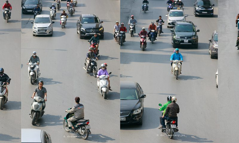 Bức tranh kỳ lạ về giao thông Hà Nội