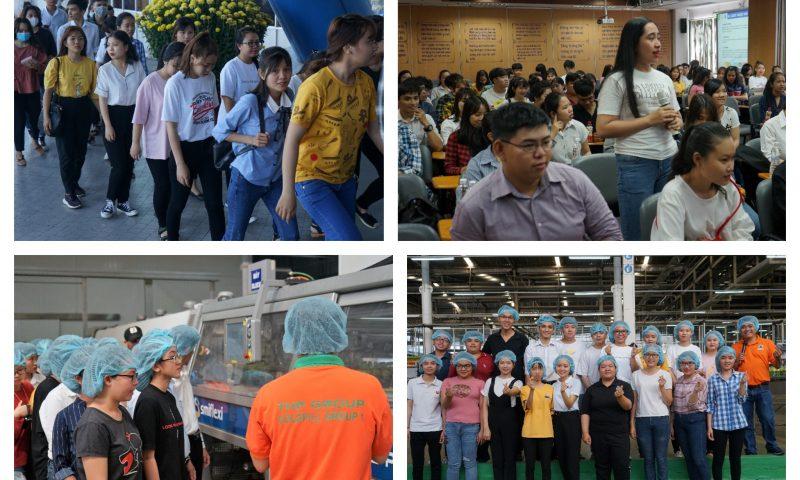 100 sinh viên ngành Hóa học – Đại học Thủ Dầu Một thăm quan Tân Hiệp Phát