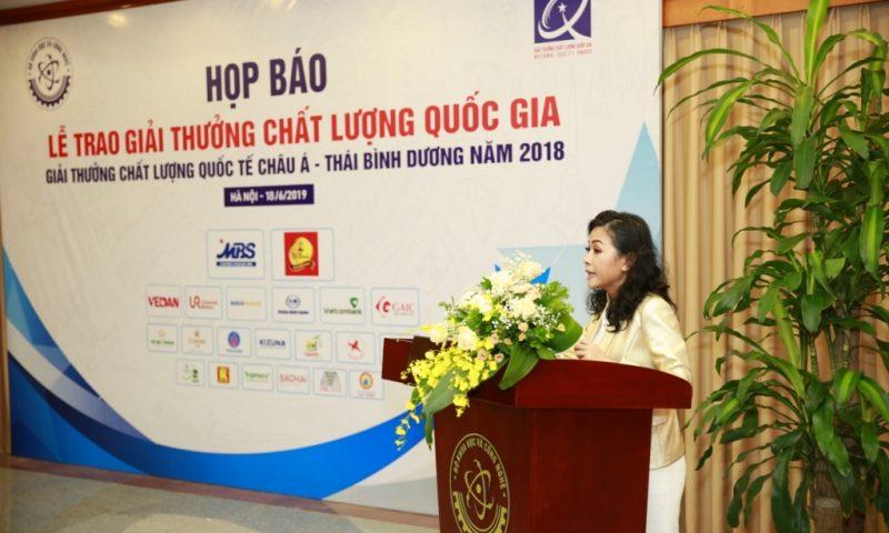 Bộ KHCN trao giải Vàng Chất lượng Quốc gia cho tập đoàn Tân Hiệp Phát