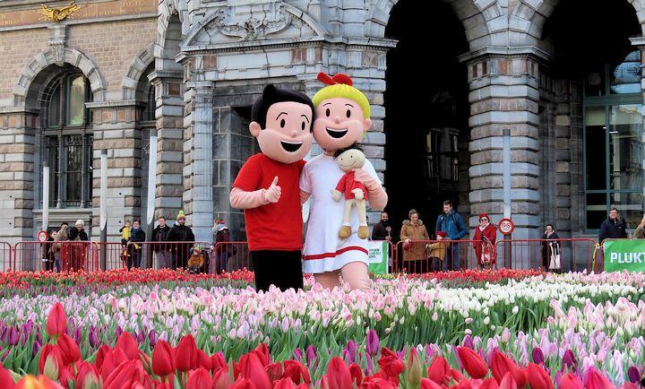 Độc đáo lễ hội hái hoa Tuy líp tại Bỉ