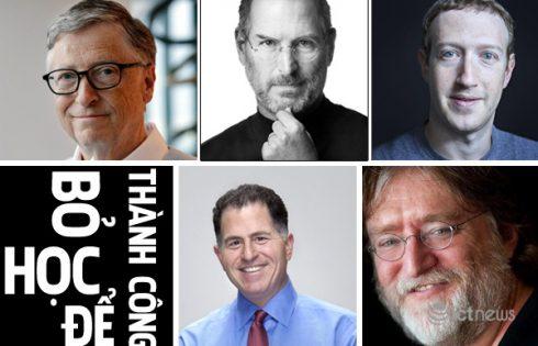 """Bill Gates và những """"cá mập"""" ngành công nghệ bỏ học thành tỷ phú"""
